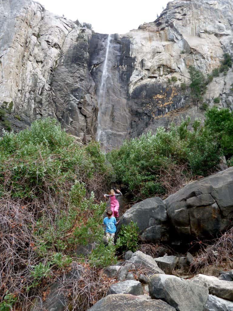 Bridalveil Falls in Yosemite Valley