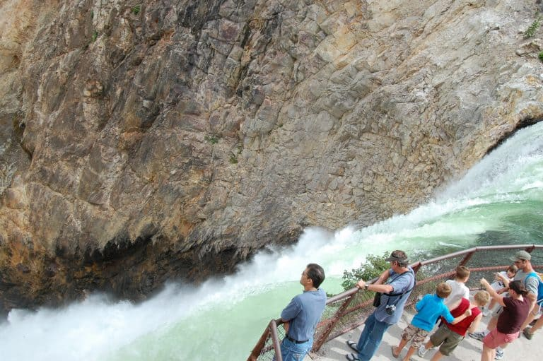best hikes in Yellowstone waterfall