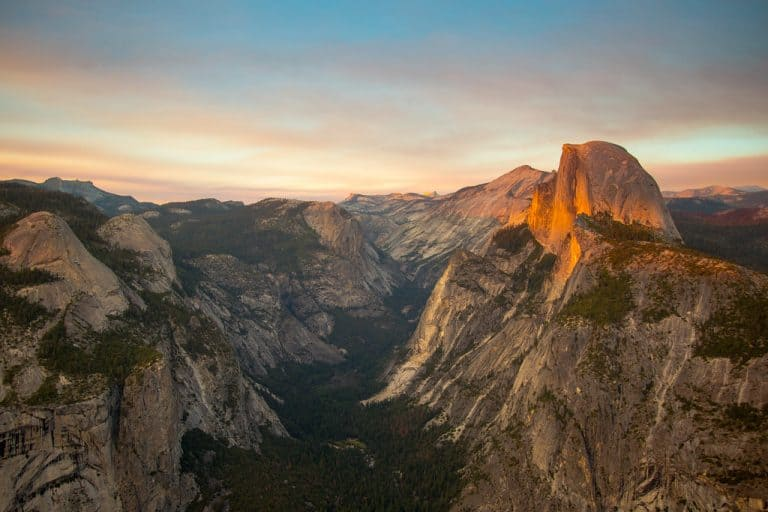 View of Half Dome and the Valley from Glacier Point