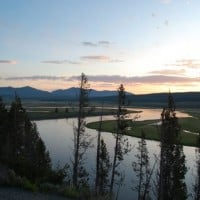 Yellowstone sunrise