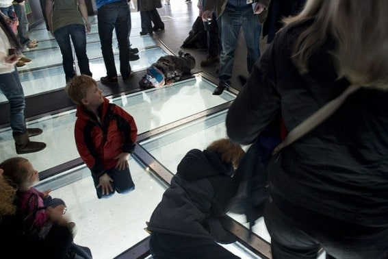 kid on glass floor CN Tower