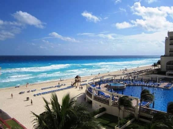 Cancun blog post picture 1 view from balcony at mariott