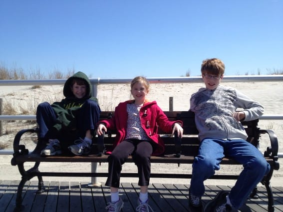 Atlantic City with Kids - hanging on the boardwalk