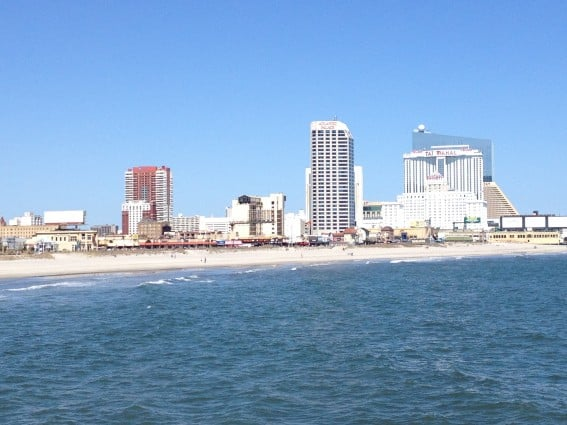 Atlantic City with Kids - Skyline from the ocean