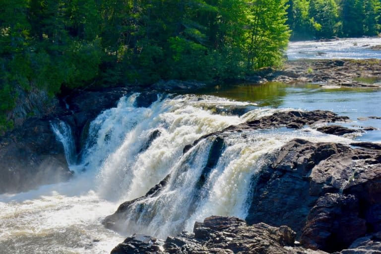 Grand Falls in Kennebec Valley is a wonderful stop on your Maine Road trip