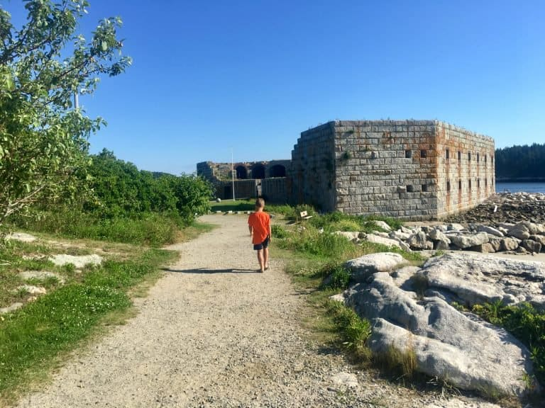 Fort Popham State Historic Site is one of the great places to visit in Maine with kids