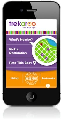 Trekaroo iPhone App - kid-friendly activiites, restaurants, hotels nearby