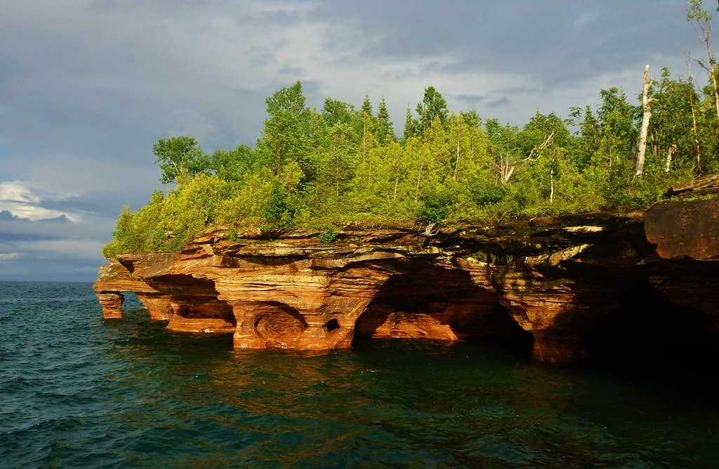 apostle islands are one of the best places to visit in Wisconsin