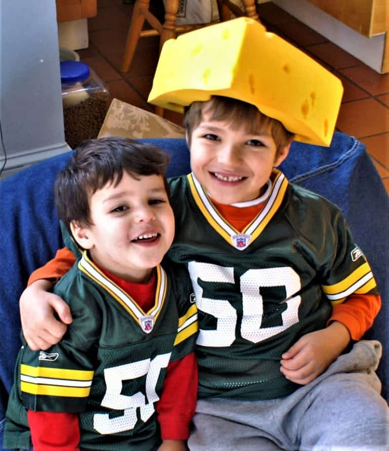 things to do in Wisconsin with kids include becoming a cheesehead
