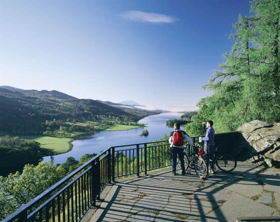 CYCLE ROUND LOCH KATRINE Scotland