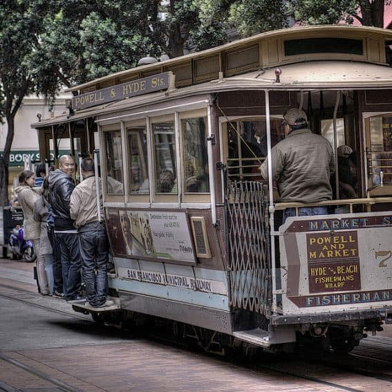 Cable Car for a san francisco tourist