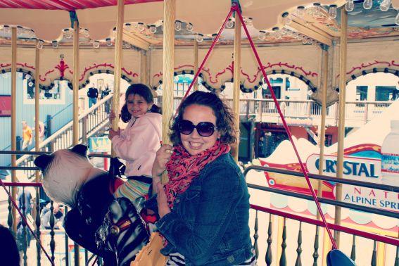 san francisco tourist on a carousel
