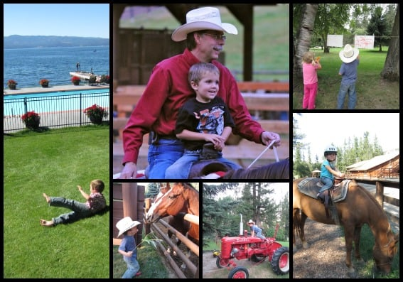 Flathead Lake Lodge kids collage