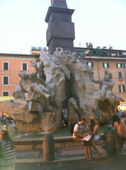 Piazza Navona, Rome, Italy with kids