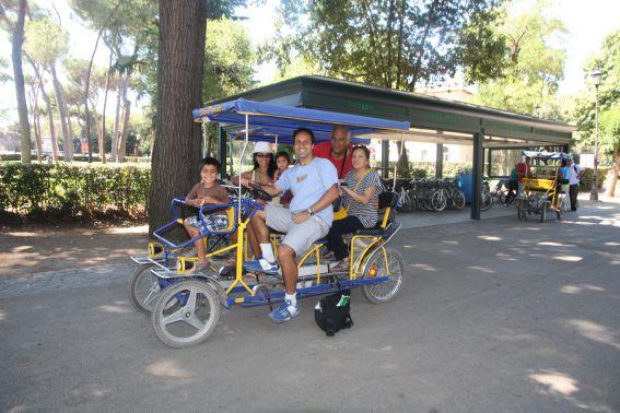 Biking around Villa Borghese in Rome
