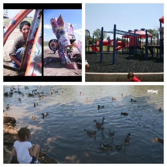 Kid friendly Amarillo: Medi Park, Cadillac Ranch Amarillo Texas