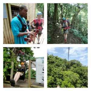 kid friendly island vacations: Sky Safari Ziplining at Wingfield Estate in St. Kitts