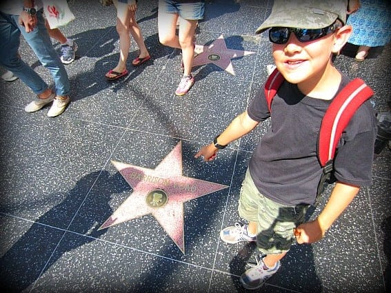 Kid friendly Hollywood: Walk of Fame