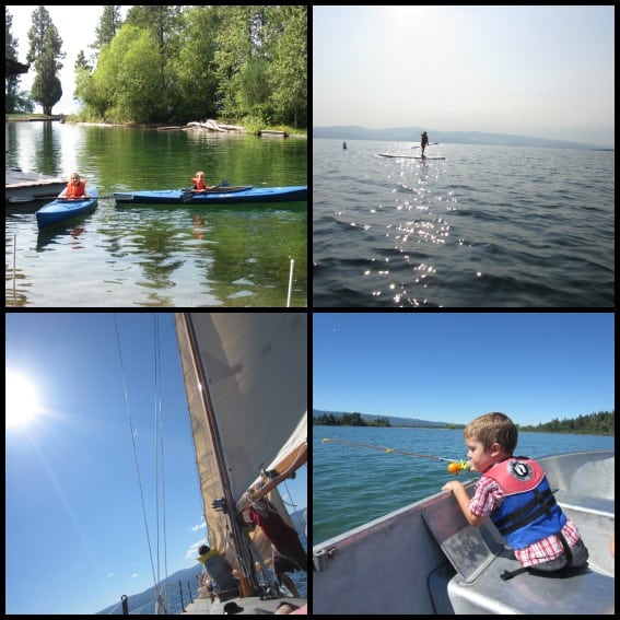 Waterfront Flathead Lake Lodge Collage