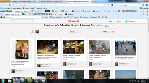 pinterest Pin to Win Myrtle Beach Vacation
