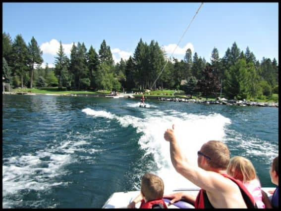 waterskiing flathead lake lodge