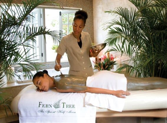 Half Moon Fern Tree Spa Body Wrap