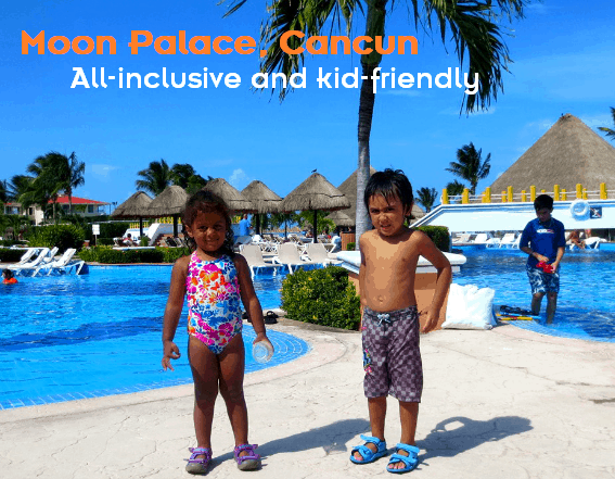 Moon Palace Golf & Spa Resort in Cancun is all-inclusive (can include private childcare depending on your room) and kid-friendly.