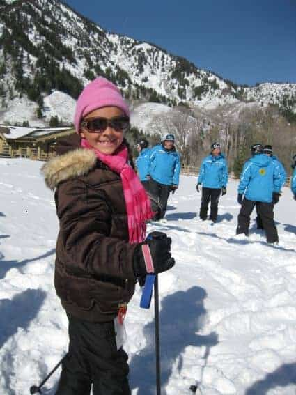 Off to Ski School Snowbasin