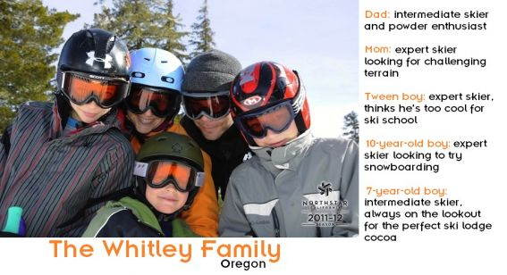The Whitley Family with family bio