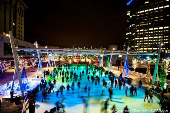 Ice Skating at Christmas in Salt Lake City- Great Holiday Attraction