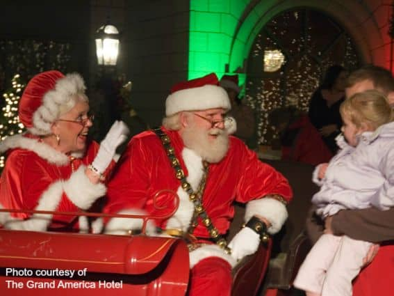 Santa & Mrs.Claus at the Grand America Hotel at Christmas in Salt Lake City- Great Holiday Attraction
