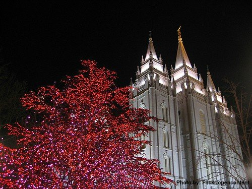 Temple Square Lights Christmas in Salt Lake CIty