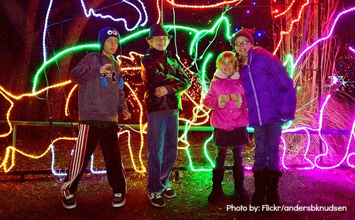 zoolights Hogle Zoo at Christmas in Salt Lake City- Great Holiday Attraction
