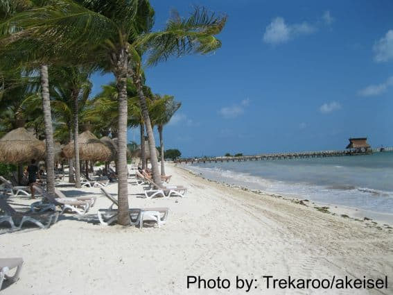 Beach at Villa del Palmar photo by: Trekaroo/akiesel villa del palmar cancun travel with kids