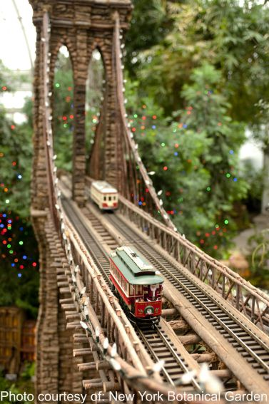 Holiday and christmas events in new york city with kids for New york botanical gardens train show