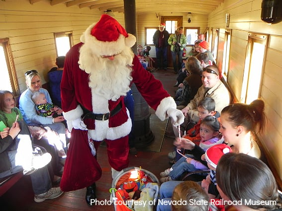 Carson City Nevada State Railroad Museum – Santa Train Carson City Christmas