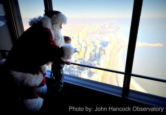 Santa Visits at John Hancock Observatory in Chicago, IL Photo by: John Hancock Observatory