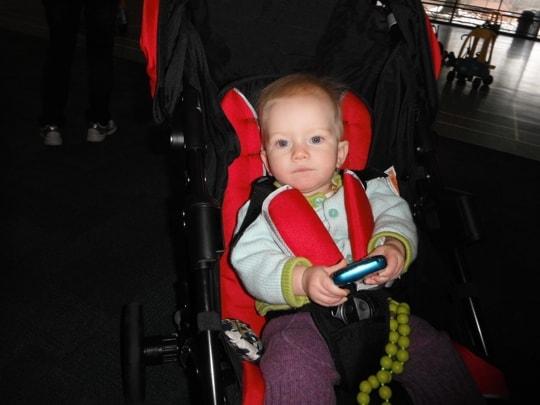 Snug in the stroller