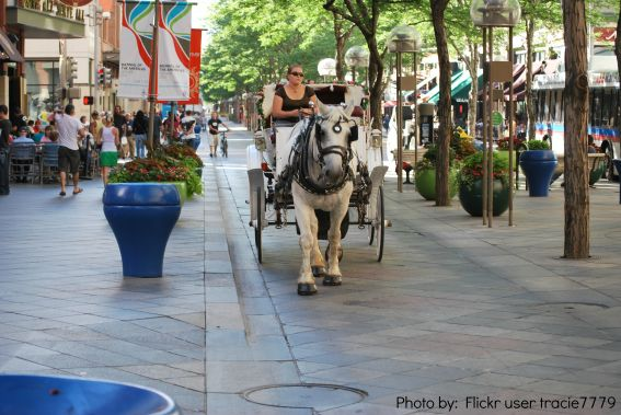 Denver 16th Street Mall from Flickr user tracie7779