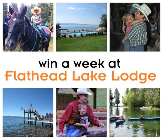 Enter to Win a One Week Family Travel Vacation at Flathead Lake Lodge in Montana