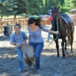 Flathead Lake Lodge Kids Rodeo Mom Son Race