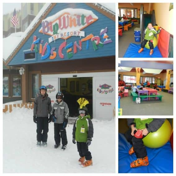 Kids Centre Skiing at Big White Families