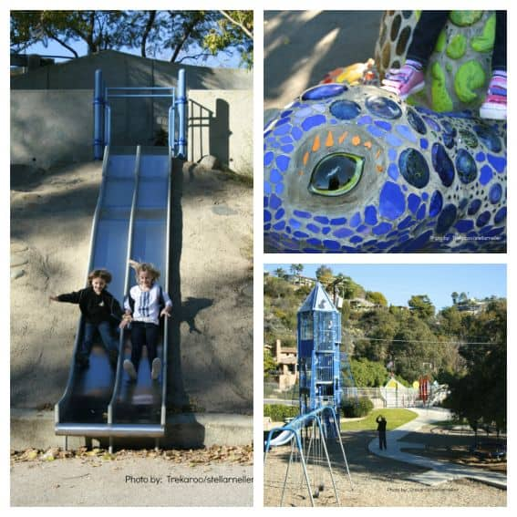 Laguna Beach blue bird park family friendly