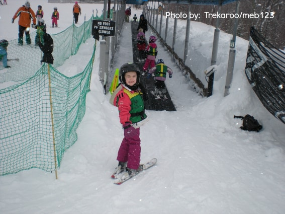 New Hampshire with kids skiing