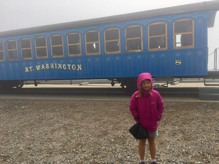 Mount Washington Cog Railway in New Hampshire with kids