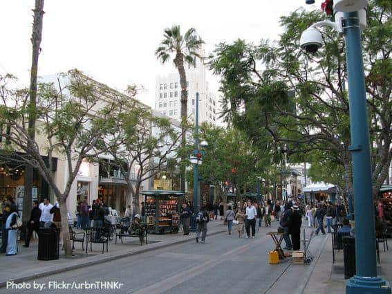 Third Street Promenade Santa Monica Family things to do with kids in Santa Monica