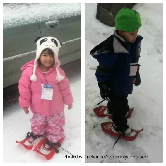 Snow Play with Kids Snow Shoeing Mt. Hood Oregon