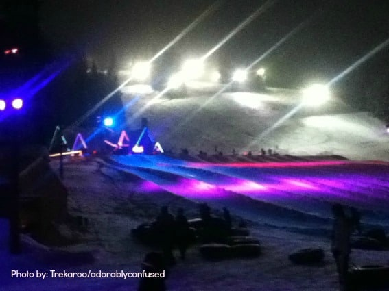 Cosmic Tubing Mt. Hood Snow Play with Kids