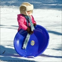 sledding with kids toddlers
