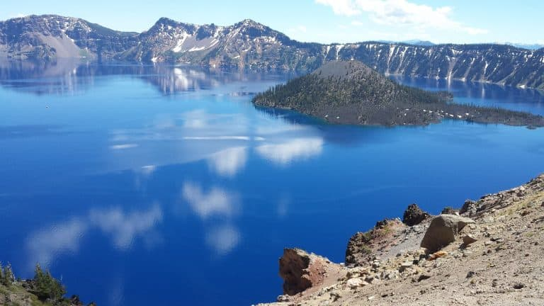 One of the best things to do in Oregon with kids is visit Crater Lake